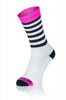 3x Winaar BWP stripes - Wit/Zwart Met Fluo Roze Accenten