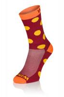 3x Winaar BO dot - Rood/Oranje met stippen