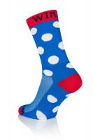 3x Winaar BRW dot - Blauw/Rood Met Witte Stippen