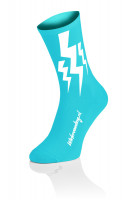 Lightning Socks - Cyaan