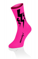 3x Lightning Socks - Fluo Roze