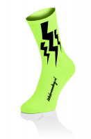 3x Lightning Socks - Fluo Geel