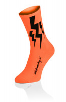 3x Lightning Socks - Fluo Orange